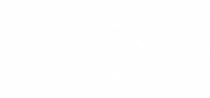 Sketch Engine logo negative