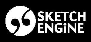 Sketch Engine logo negative