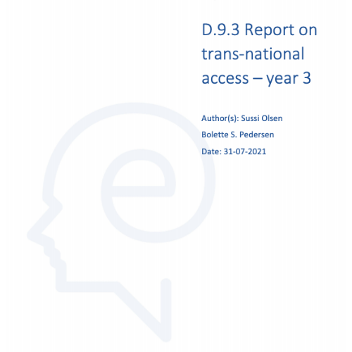 Report trans national access year 3 ELEXIS