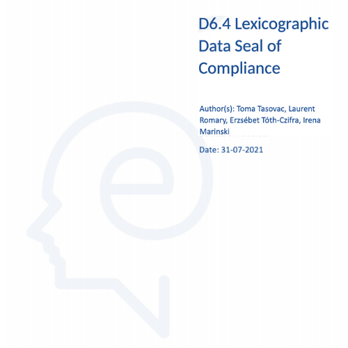 Lexicographic Data Seal of Compliance (LexSeal) ELEXIS
